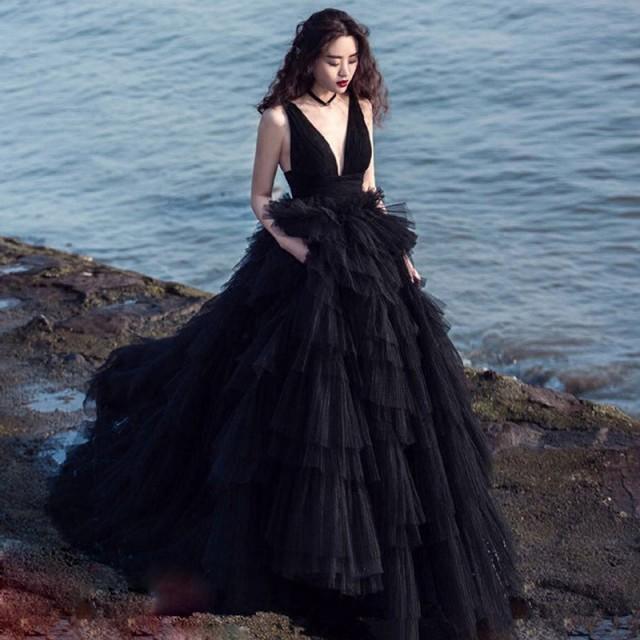 韓国 ファッション 花嫁ウエディングドレス 二次...