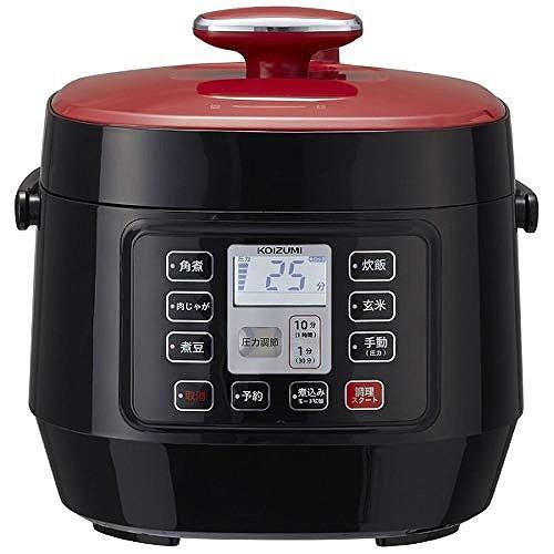 コイズミ マイコン電気圧力鍋 簡単 時短 レッド...