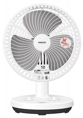 山善扇風機18cmタイマー付き卓上小型ロータリース...