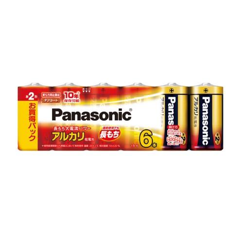 パナソニック Panasonic 乾電池 単2形アルカリ乾...