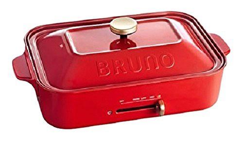 BRUNO コンパクトホットプレート レッド BOE021-R...