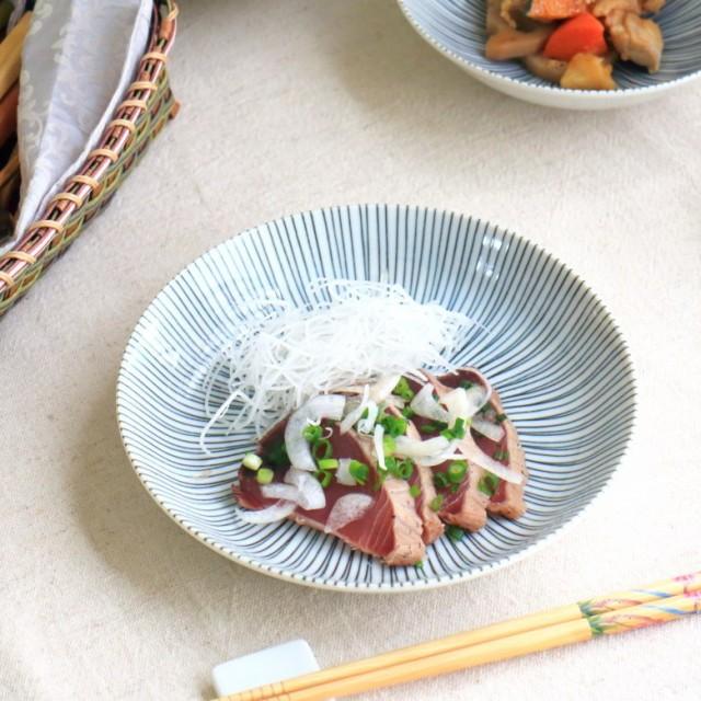 黒十草 6寸深皿 国産 美濃焼 丸型6.0深皿 和皿 丸...
