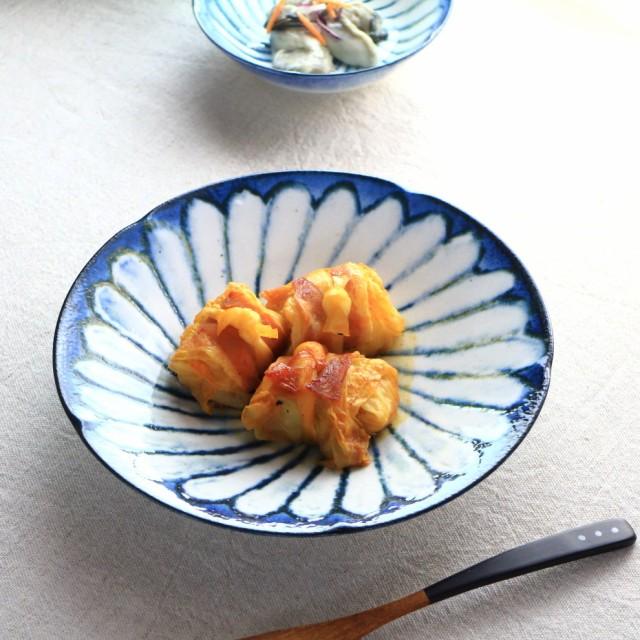 令和粉引 華 主食鉢 22.5cm 国産 美濃焼 7寸深皿 ...