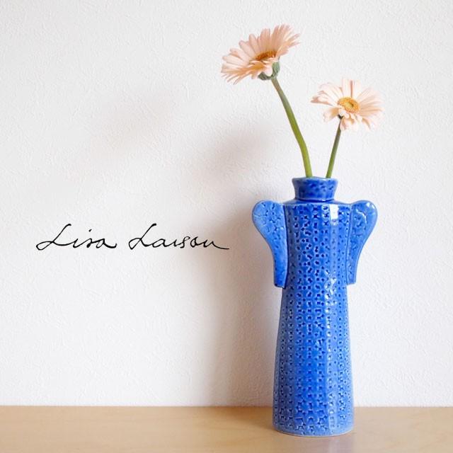 Lisa Larson(リサ・ラーソン) オブジェ ワードローブ コート 花瓶(青)