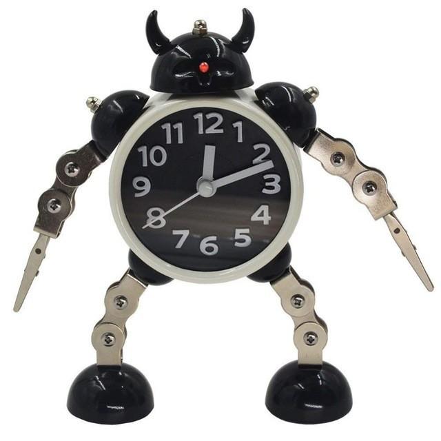 目覚まし時計  ロボット トランスフォーム 変形 子供 キッズ 男の子 プレゼント ギフト インテリア 子供部屋
