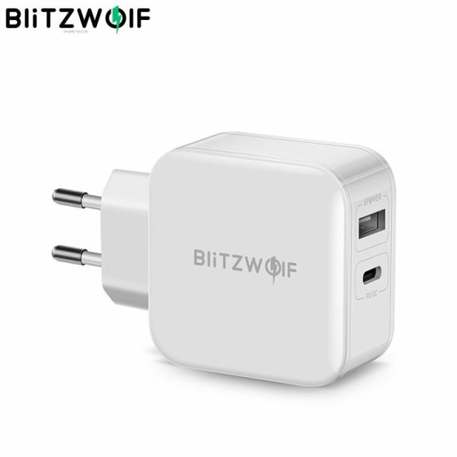 BlitzWolf 30W Type-C携帯電話充電器PD / QC3.0 +...