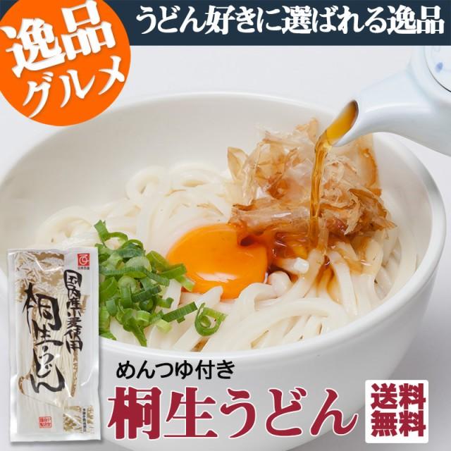 桐生 うどん 半生麺 270g×3袋 めんつゆ付お手軽...