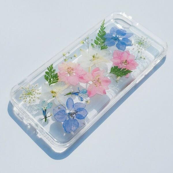 スマホケース 押し花 カバー アイフォンケース iP...
