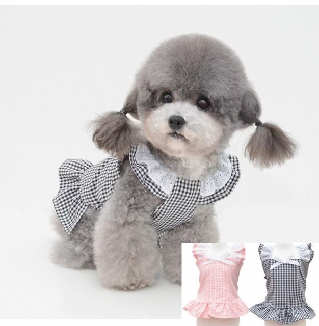 犬 服 犬服 小型犬 ワンピース スカート 春夏 ペ...