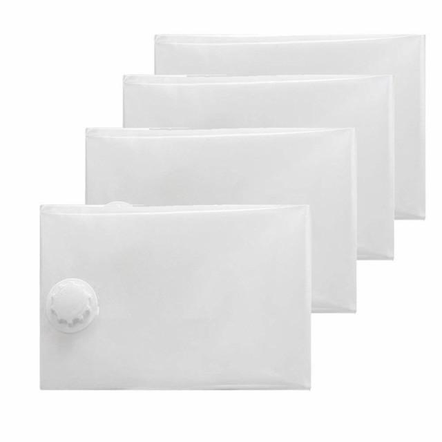 布団圧縮袋 4枚セット(中×2、特大×2) 防ダニ ...