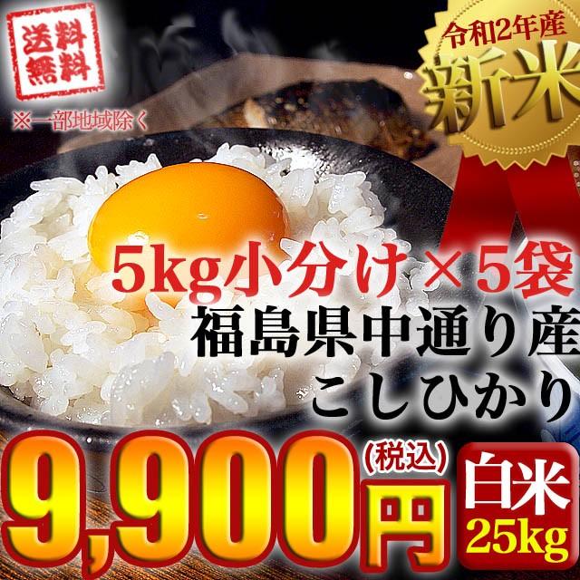新米 お米 令和2年産 福島県中通り産 コシヒカリ ...