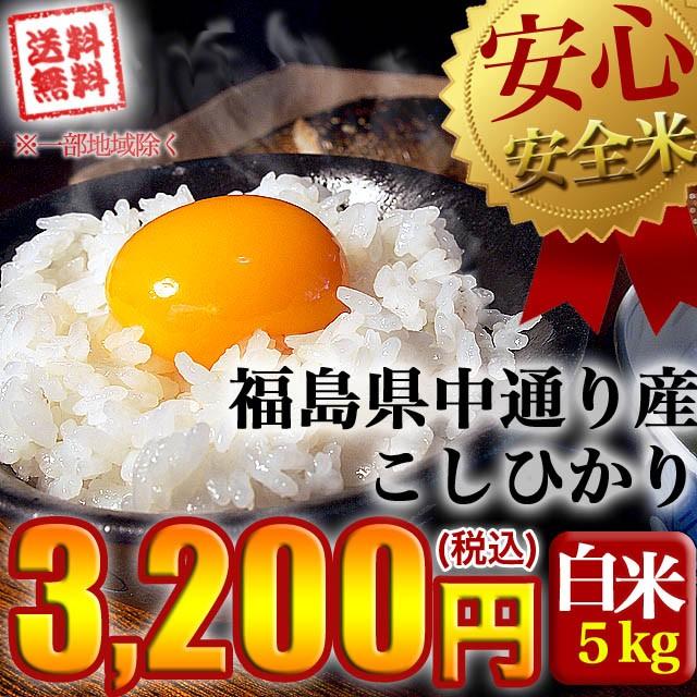 新米 令和3年産 福島県中通り産コシヒカリ白米5k...