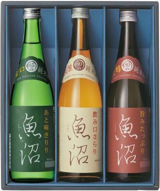 日本酒飲み比べ 白瀧酒造 魚沼ギフトセット 720ml...