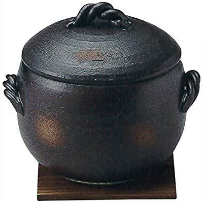 三陶 萬古焼 炊飯鍋 2合炊き玄米ごはん鍋(敷板付)...