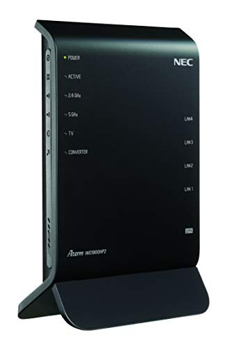 NEC 11ac対応 1300+600Mbps 無線LANルータ(親機...