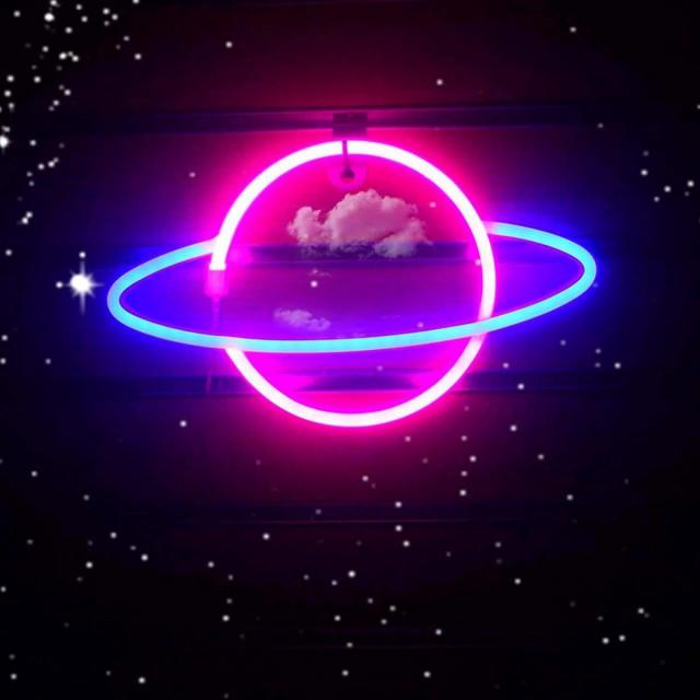 リウヤング プラネット LEDネオンサイン ピンク/...