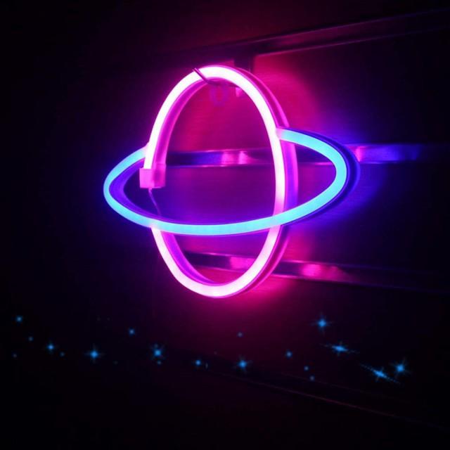 ベルドリーム プラネット LEDネオンサイン ピンク...