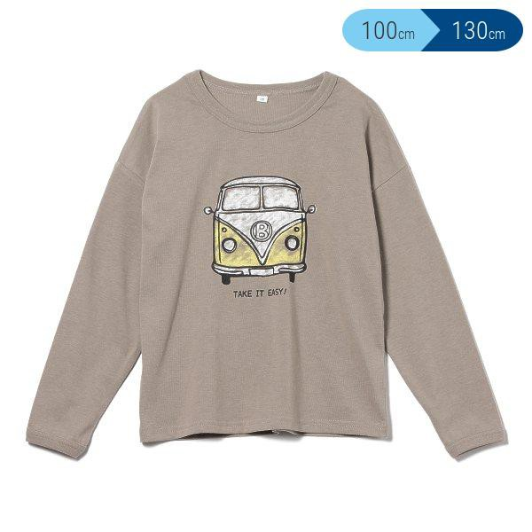 天竺バスロゴプリント長袖Tシャツ【100cm・110cm...