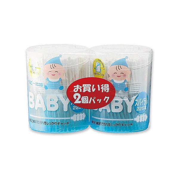 抗菌ベビー綿棒 スパイラル2個パック [ めんぼう ...