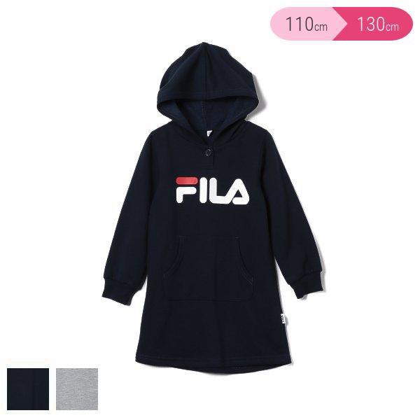 FILA)裏起毛ポケット付きパーカーワンピース【11...