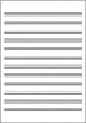 五線紙 NO.2B 12段(10枚)