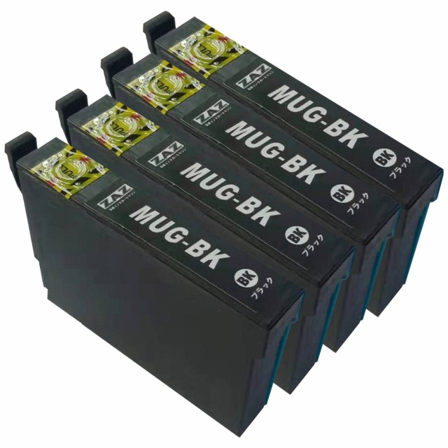 MUG-BK ブラック 4個セット ZAZ 互換 インクカー...
