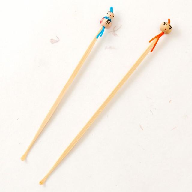 竹製夫婦耳かき 2本セット (KS) Bamboo earpic...