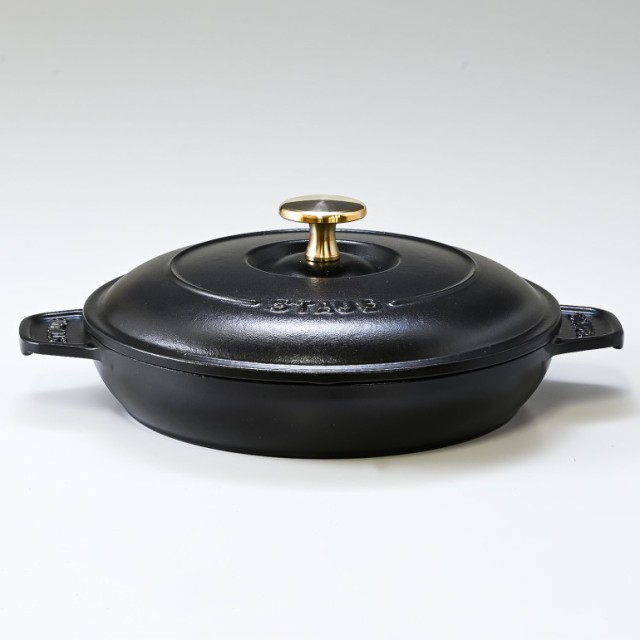 ストウブ ラウンドホットプレート 20cm 鋳物 ホーロー 鍋 なべ 調理器具 キッチン用品 ブラック 1332025 (40509-579-0) 送料無料 プレゼ