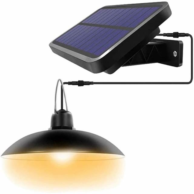 LEDソーラーライト 屋外 センサーライト 暖色系 ...