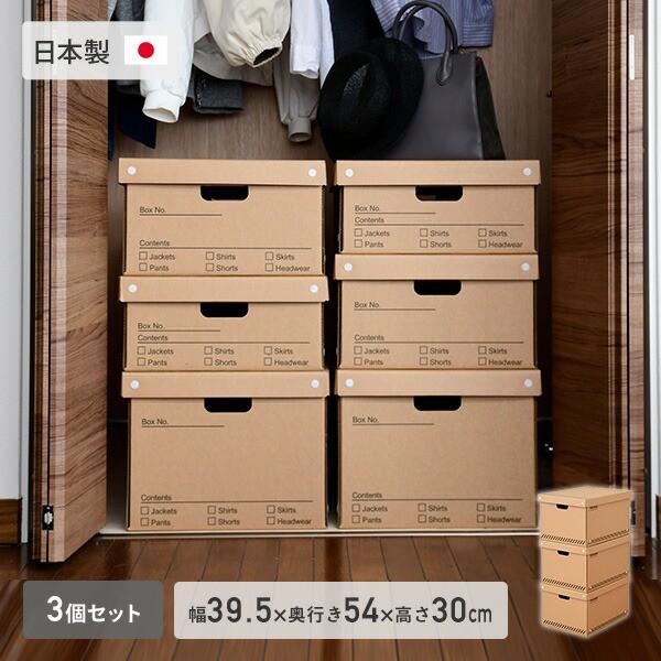 クローゼット 収納ボックス L 3個組 キャスター付き  幅39.5 奥行54 高さ30 cm  TRUNK  フタ付き 押入れ 押し入れ 収納 クローゼット 衣