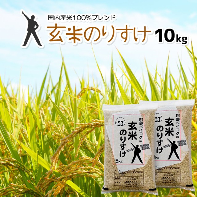 玄米 10kg (5kg×2) 送料無料 (地域限定) 玄米の...