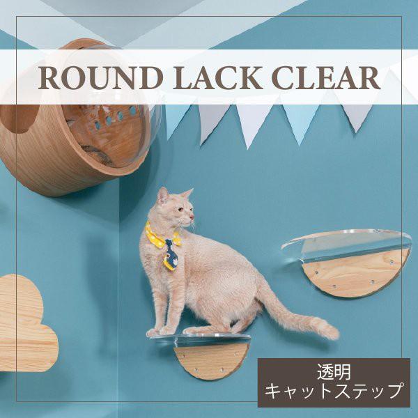 MYZOO マイズー ROUND LACK CLEAR 透明キャットス...
