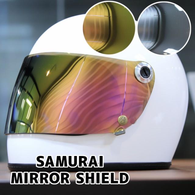 レトロフルフェイスヘルメット SAMURAI専用ミラー...