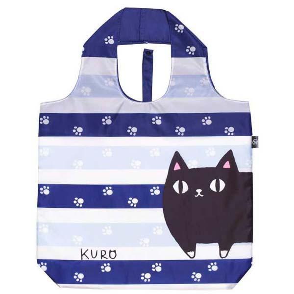にゃん屋 エコバッグ猫3兄弟KURO 13080 ブルー 8...