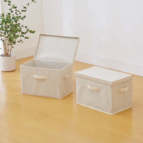カラーボックスの収納に便利!フタ付整理箱2個set...