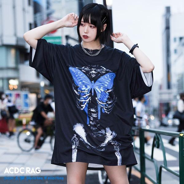 タレバタフライ ヒュージT Tシャツ 半袖 パンク ...