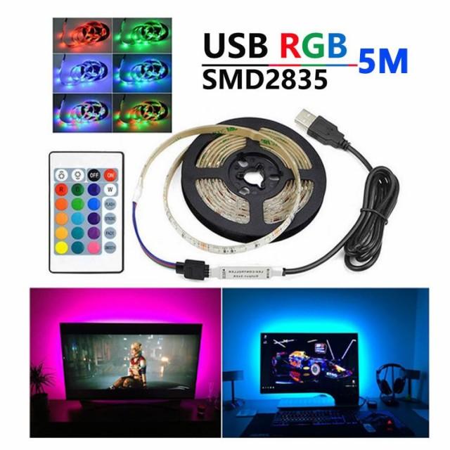 LED テープライト USB対応 5m SMD3528 5V  LEDテ...