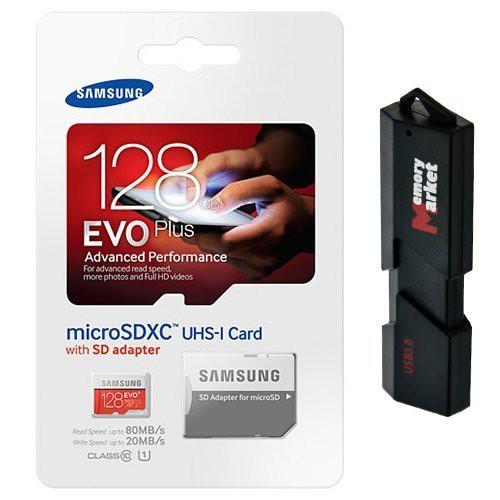 送料無料!Samsung EVO Plus 128?GB microSD XCク...