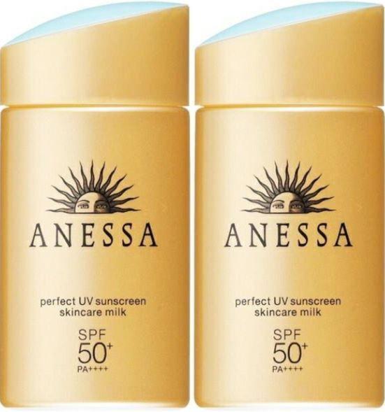 (2個セット)資生堂 アネッサ パーフェクトUV スキンケアミルク(60ml) 日焼け止め 最強 人気 紫外線 汗に強い SPF50+ PA++++