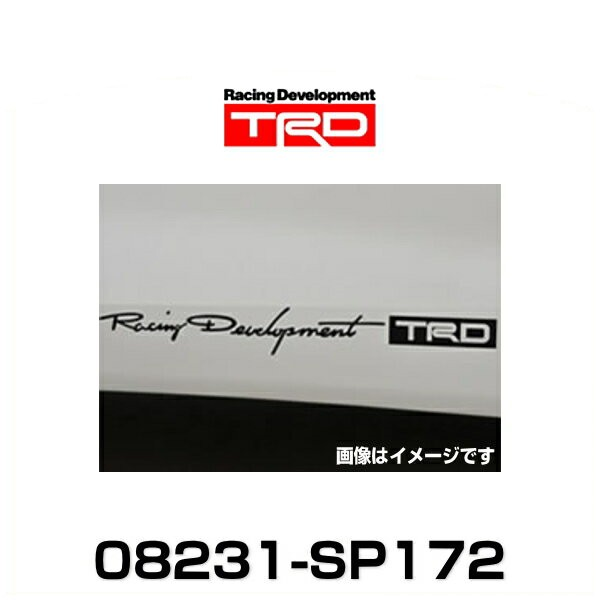 TRD 08231-SP172  TRDステッカー/ブラック 小