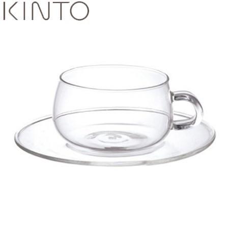 【P10倍】KINTO UNITEA カップ & ソーサー ガラス...