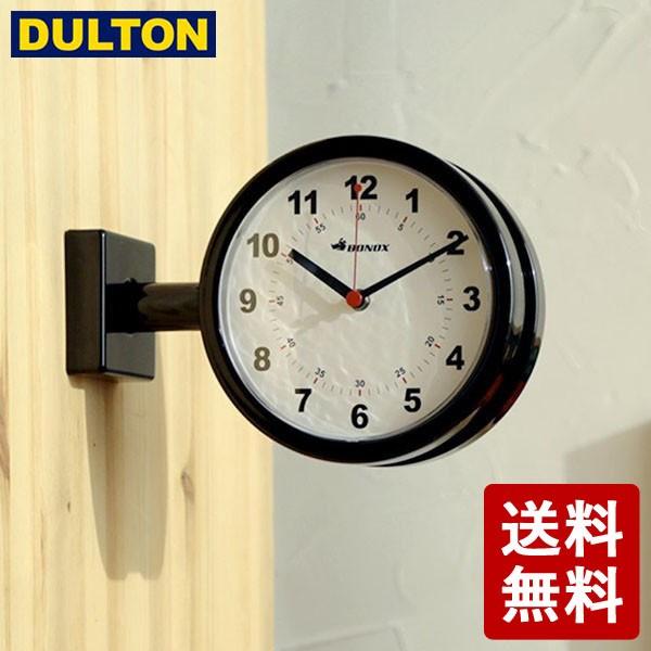 DULTON ダブルフェイスクロック 170D ブラック S6...