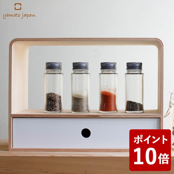 【P10倍】ヤマト工芸 4u counter rack 調味料ラッ...