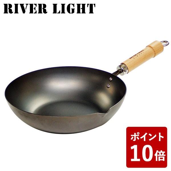 【P10倍】リバーライト 鉄 炒め鍋 24cm 極 ジャパ...
