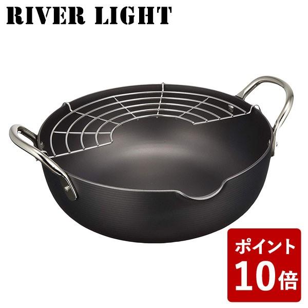 【P10倍】リバーライト 天ぷら鍋 M 極 ジャパン J...