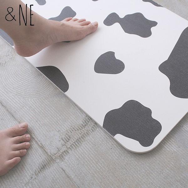 &NE 珪藻土プリントバスマット CW(Cow) NEO-101-...