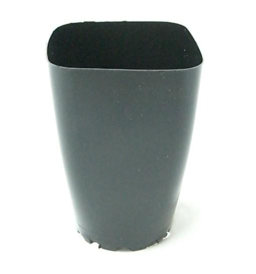 硬質ポリポット 角型 8cm深 10個 黒 洋蘭 雪割...