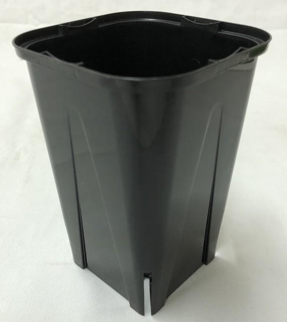 EGスリット鉢  10.5cm 黒 角型 ロングタイプ...