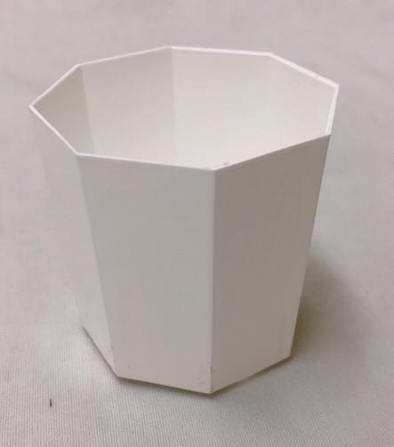 プラ鉢 2Y 白 10個セット 八角形 多肉 サボ...