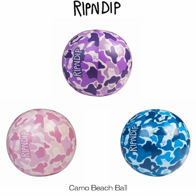 リップンディップ RIPNDIP Camo Beach Ball Purple Pink Blue パープル ピンク ブルー 紫 青 カモ 迷彩 カモフラージュ 柄 ビーチボール